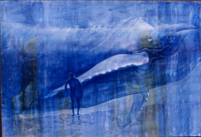 swimming in thoughts...  A painting of mine from 2002 called 'Resonance'