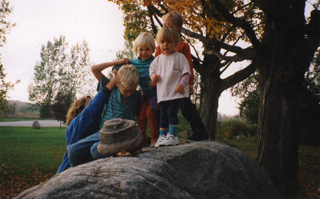 Cousins, 14 years ago.