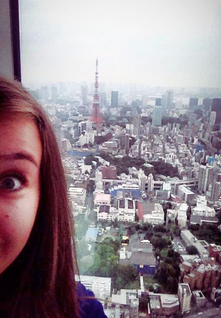 My Daughter in Tokyo, where she will live for a year.  I just skyped with her in a weird time-warp - she from tomorrow, me from yesterday, meeting in the middle where now is...