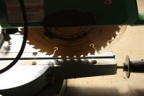 Dad's chopsaw - I cut an 1100 sq foot ash floor on this. Now it's in a painting