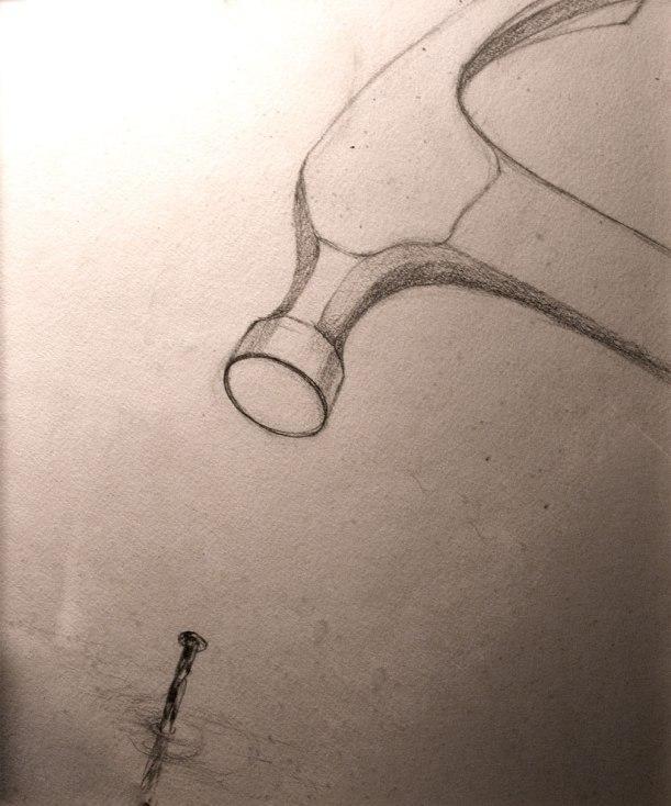 Hammer drawing #1 - rough