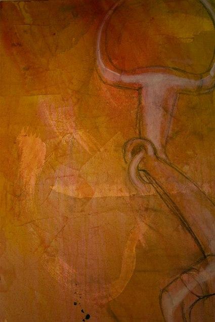 detail of Snaffle Bit (in progress). 4' square