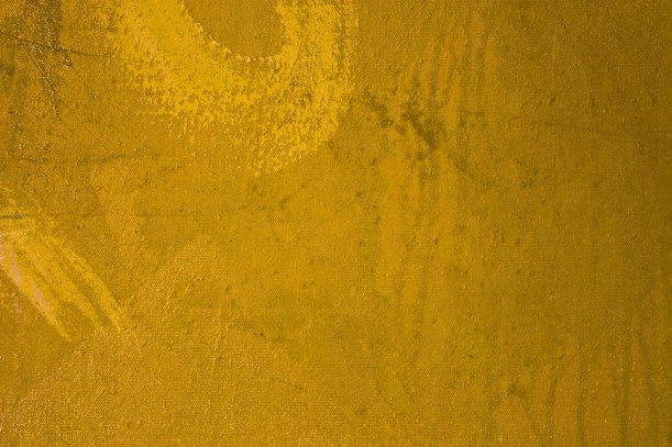 Canvas is 4'x4' square.  This is a detail of the first yellow wash over white houspaint resist.