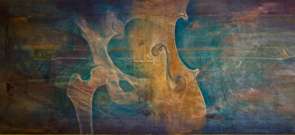 Hip Cello, from 2008, recently come back to me, since the owner has drastically reduced his wall space.. I've missed this one.