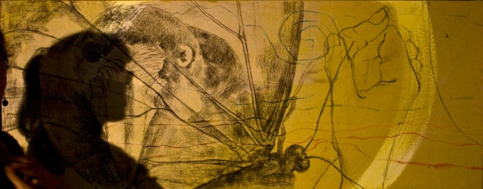 three of five images, underdrawing...