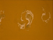 new series: foot prints1 (underpainting)