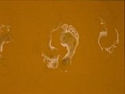 new series: foot prints1 (underpainting)