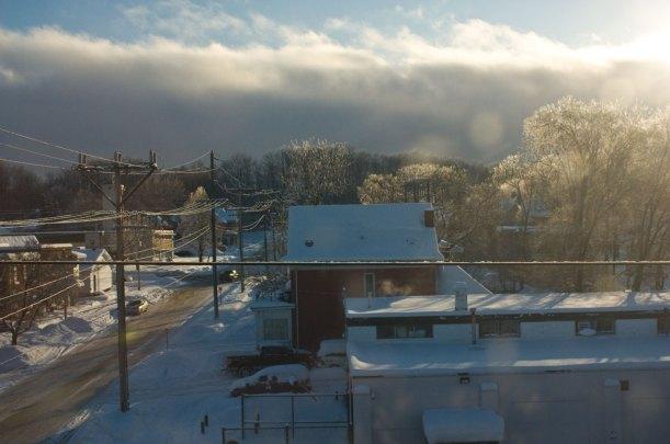 view from my studio window, winter 2014