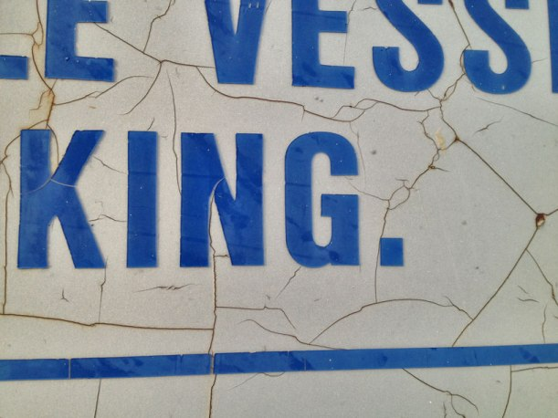Docking sign at Tobermory.  I liked the paint cracks from weather