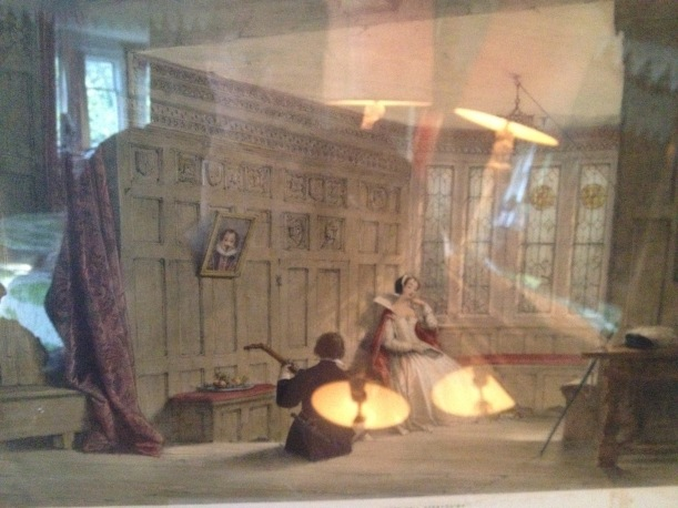 Print of the Music Room at Haddon Hall, Darbyshire.
