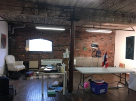 Cotton Factory / Hamilton Arts Council Residency studio, January 2019