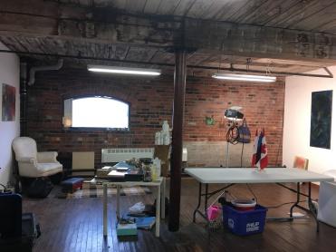 Cotton Factory / Hamilton Arts Council Residency studio, January 2019