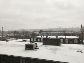 View from the 3rd floor at Cotton Factory. You can see the old site for Ivor Wynn Stadium - my name could still be buried there somewhere on microfiilm to record a 1968 dedication ceremony involving Pierre Trudeau and the Mayor of Hamilton. I was five, I think.